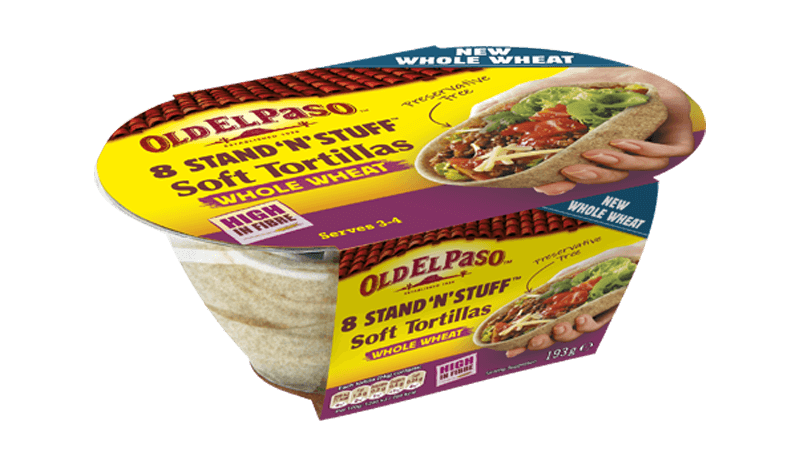 Stand 'N' Stuff Whole Wheat Soft Tortillas