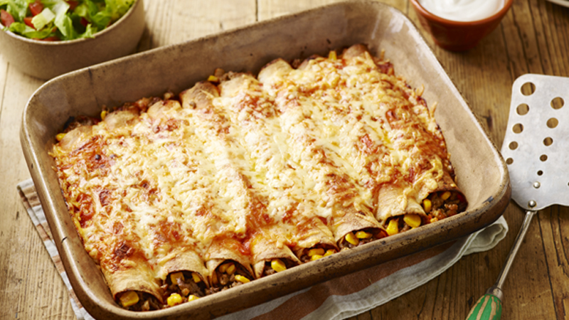 Beef and Jalapeño Enchiladas