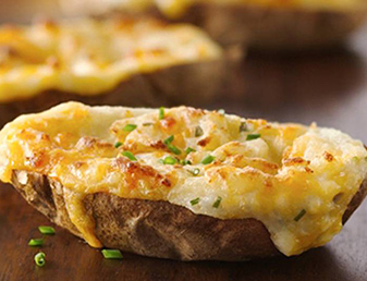 chilli con carne stuffed baked potato skin