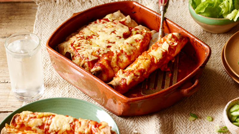 Easy Beef Enchiladas
