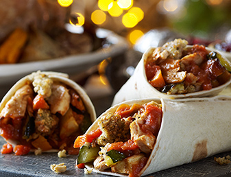 smoky bbq turkey fajitas