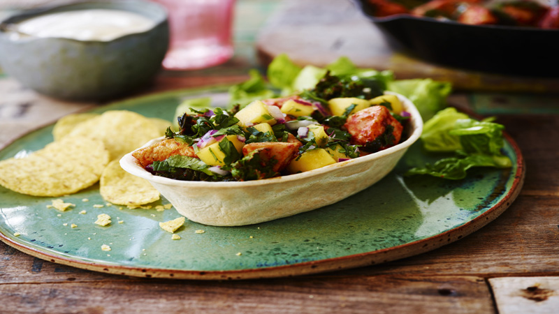 speedy chicken and kale tacos