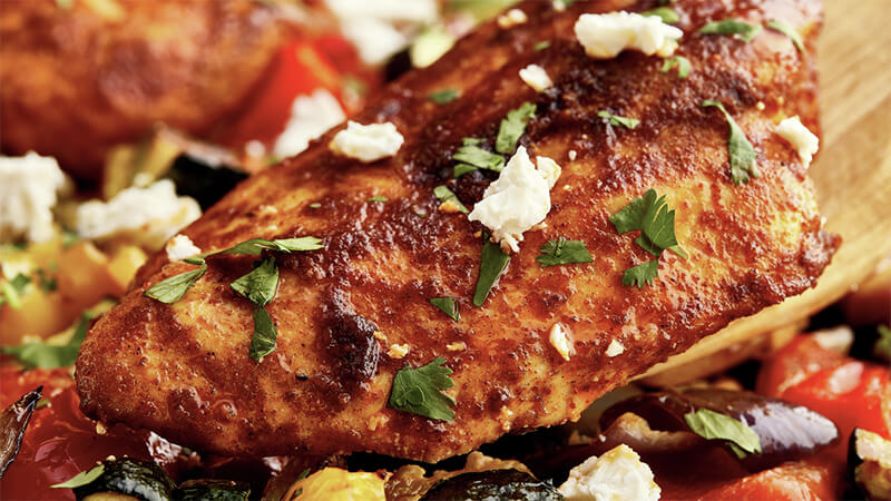 Tex-Mex Ratatouille Chicken Tray Bake