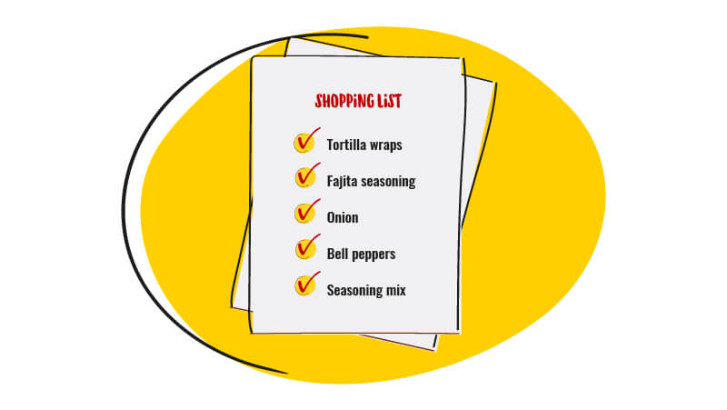 Write a shopping list
