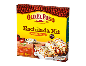 cheesy baked enchiladas dinner kit card