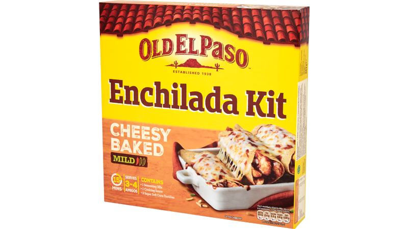 Cheesy Baked Enchilada Kit Mexican Food Old El Paso