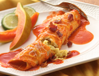 bacon-and-egg-enchiladas