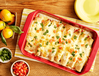 Breakfast Fajita Enchiladas