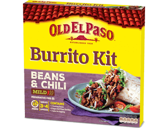 burrito kit beans chilli new
