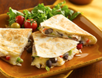 cheesy-chicken-and-bean-quesadillas