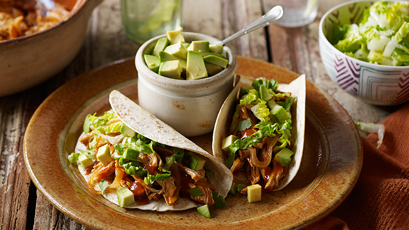 chicken tinga soft tacos