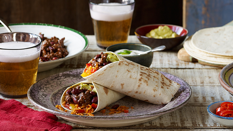 chocolate chilli burritos