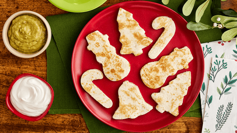 Christmas Quesadilla Cut Outs