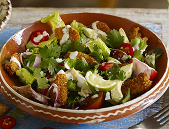 crispy chicken avocado and lime salad