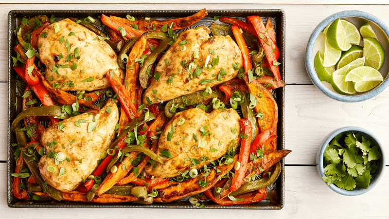 Mexican Chicken and Sweet Potato Tray Bake