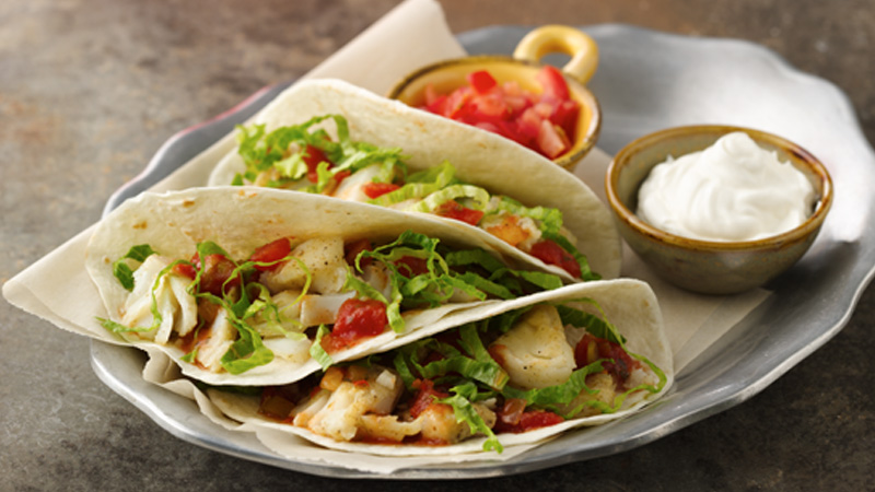 Fish Tacos with Spicy Salsa