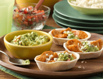 mini chicken and guacamole card