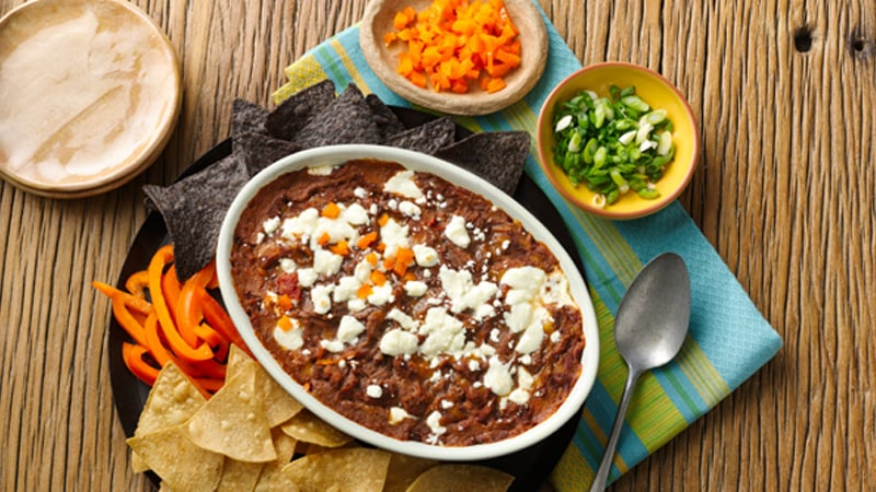 Refried Black Bean Dip Recipe - Mexican Side Dishes - Old ...
