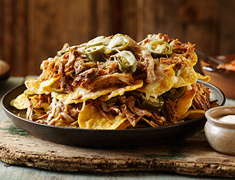 slow cooked pulled pork nachos