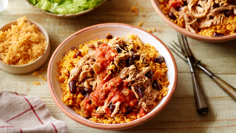 Slow-Cooker Pork Burrito Bowls