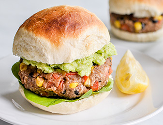 smoky refried bean burgers
