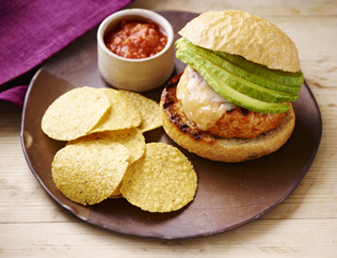 Grilled Cheese Stuffed Turkey Burgers