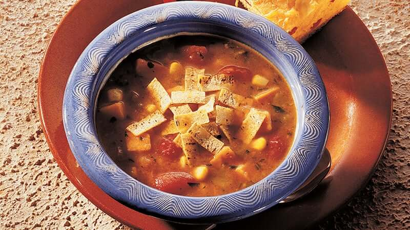 Thick and Chunky Tortilla Soup
