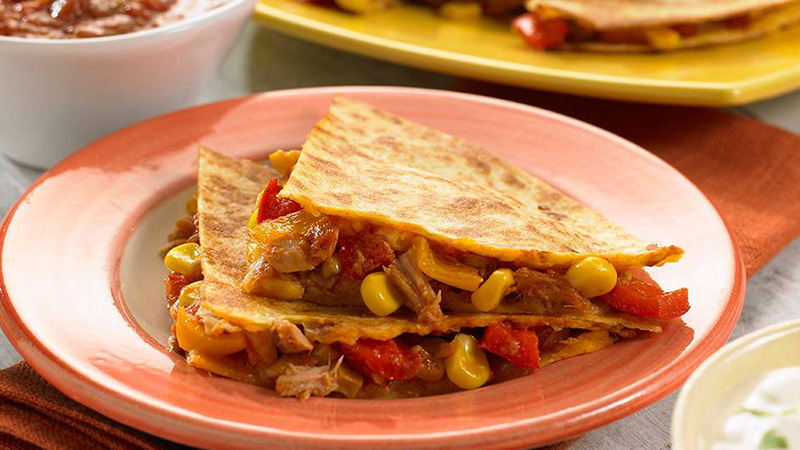 tuna and corn quesadillas